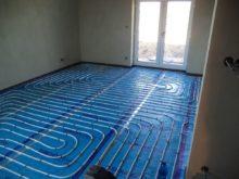RD Nová Bělá - podlahové vytápění